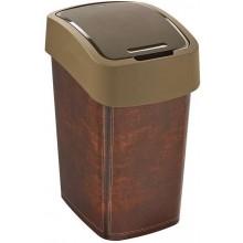 CURVER FLIPBIN LEATHER 25l odpadkový koš 47 x 34 x 26 cm hnědý 02171-L13