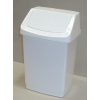 CURVER Odpadkový koš CLICK, 28 x 23,5 x 43,8 cm, 15 l, bílý, 04043-026