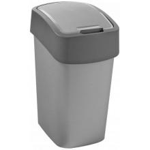 CURVER FLIPBIN 25l Odpadkový koš 47 x 26 x 34 cm stříbrná/šedá 02171-686