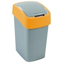 CURVER FLIPBIN 10l odpadkový koš 35 x 23,5 x 18,9 cm stříbrná/žlutá 02170-535