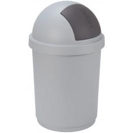 CURVER Odpadkový koš BULLET, 39,1 x 39,1 x 74 cm, 50 l, metalíza, 03930-877