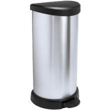 CURVER DECOBIN Pedal 40L Odpadkový koš 68 x 34,9 x 28,2 cm stříbrný 02150-582