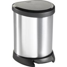 CURVER DECOBIN Pedal 5L Odpadkový koš 27,7 x 24,6 x 21 cm stříbrný 02160-599