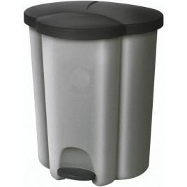 CURVER Pedálový koš na tříděný odpad TRIO, 47,8 x 39,4 x 59,2 cm, 40 l, 03942-877