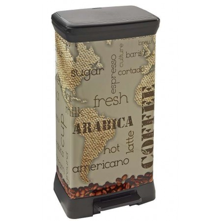 CURVER Odpadkový koš Decobin Coffe, 39 x 29 x 73 cm, 50 l, 02162-C29