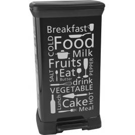 CURVER Odpadkový koš Decobin Kitchen, 39 x 29 x 73 cm, 50 l, černá/světle hnědá, 02162-K03