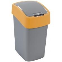 CURVER FLIPBIN 25l Odpadkový koš 47 x 26 x 34 cm stříbrná/žlutá 02171-535
