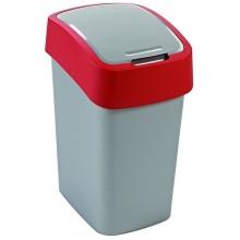CURVER FLIPBIN 25l Odpadkový koš 47 x 26 x 34 cm stříbrná/červená 02171-547