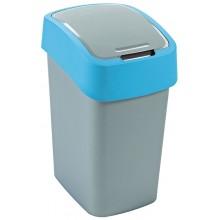 CURVER FLIPBIN 25l Odpadkový koš 47 x 26 x 34 cm stříbrná/modrá 02171-734