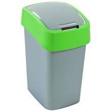 CURVER FLIPBIN 25l Odpadkový koš 47 x 26 x 34 cm stříbrná/zelená 02171-P80