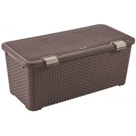 CURVER RATTAN STYLE úložný box, 79 x 40 x 33 cm, 72 l, hnědý, 72 l 00712-210