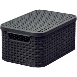 CURVER STYLE S úložný box s víkem 29,1 x 19,8 x 14,2 cm hnědý 03617-210