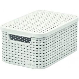 CURVER STYLE S úložný box s víkem 29,1 x 19,8 x 14,2 cm krémový 03617-885