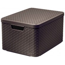 CURVER STYLE L úložný box s víkem 44,5 x 24,8 x 33 cm hnědý 03619-210