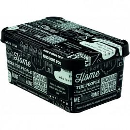 CURVER úložný box DECO - S - TYPOGRAPHY, 29,5 x 13,5 x 19,5 cm, 04710-H12