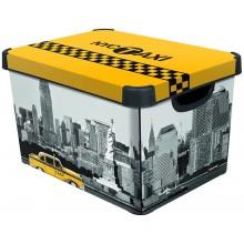 CURVER NEW YORK L box úložný dekorativní 39,5 x 29,5 x 25 cm 04711-D16