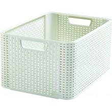 CURVER STYLE L úložný box 43,6 x 22,8 x 32,6 cm krémový 03616-885