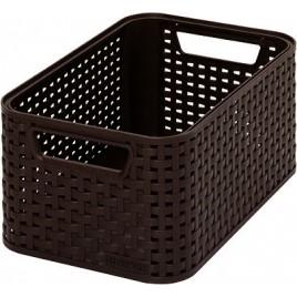 CURVER úložný box RATTAN Style2 S, 28,5 x 12,9 x 19,4 cm, hnědý, 03614-210