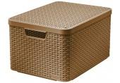 CURVER STYLE L úložný box s víkem 44,5 x 24,8 x 33 cm mocha 03619-213