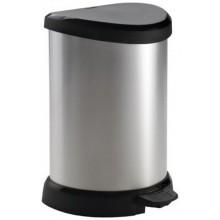 CURVER DECOBIN Pedal 20L Odpadkový koš 44,8 x 30,8 x 28,1 cm stříbrný 02120-582