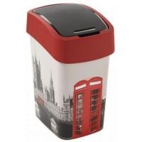 CURVER Odpadkový koš Flipbin LONDON, 26 x 34 x 47 cm, 25 l, šedá/červená, 02171-L11