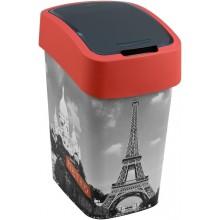 CURVER FLIPBIN PARIS 25l Odpadkový koš 47 x 26 x 34 cm červená/šedá 02171-P67