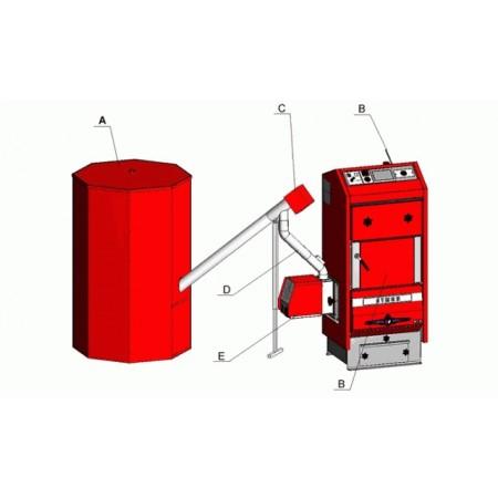 Atmos Šnekový dopravník hřídelový DRA50 o délce 1,7 m a průměru 80 mm