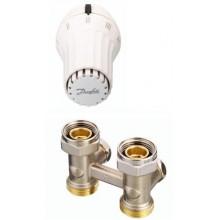 Danfoss set RAE-K 5034 termostatická hlavice + RVL-KS přímé šroubení 013G5091