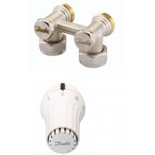 Danfoss Set - termostatická hlavice RAE5054 a rohové šroubení RLV-KS 013G5096