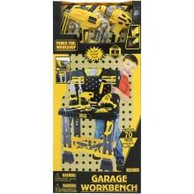 Dětské nářadí G21 pracovní stůl s nářadím žluto-šedý 60026322