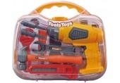 Dětské nářadí G21 s vrtačkou v kufříku žluto/šedé 60026324