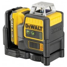 DeWALT Aku zelený čárový laser 2 x 360°, XR Li-Ion 10,8V 2,0 Ah DCE0811D1G