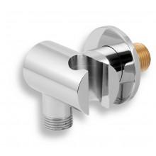 NOVASERVIS kovový držák sprchy s vývodem, chrom D/LUXUS,0