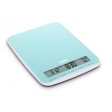 DOMO Kuchyňská váha do 10 kg - modrá, skleněná DO9108W