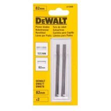 DeWALT hoblíkové tvrdokovové otočné nože 82 mm - 2ks (TCT/HM) DT3906-QZ