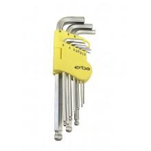 ERBA Imbusový klíč 9 ks ER-46010