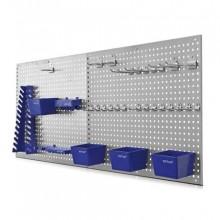 ERBA Děrovaná stěna 55,8x45,8x0,8 cm, 2 ks, s příslušenstvím ER-06601
