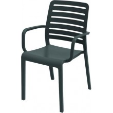 EVOLUTIF CHARLOTTE Country zahradní židle, 55 x 57 x 86 cm, grafit 17200307