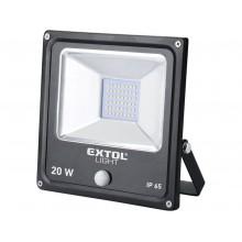 EXTOL LIGHT ECONOMY LED reflektor s pohybovým čidlem 1400 lm 43232