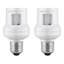 EXTOL LIGHT objímka na žárovku dálkově ovládaná 2ks max. 60W E27 43810