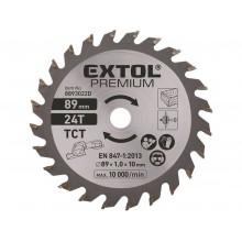EXTOL PREMIUM kotouč pilový s SK plátky, Ř89 x 1,0 x 10 mm, 24T 8893022D