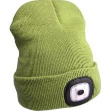 EXTOL LIGHT čepice s čelovkou, nabíjecí, USB, zelená, univerzální velikost 43192