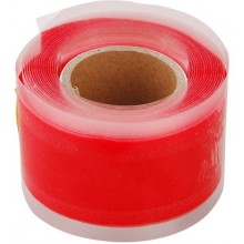 EXTOL PREMIUM páska silikonová samofixační, 25mm x 3,3m, červená barva 8856200