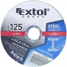 EXTOL CRAFT kotouče 125x1,0x22,2mm, řezné na kov 5ks 106902
