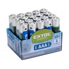 EXTOL Energy Tužkové baterie AAA 1,5V 42002
