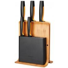 FISKARS Functional Form Bambusový blok s pěti noži 1057552
