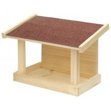 KRMÍTKO Krmítko dřevěné č. 20, 30x21x16 cm, přírodní, jednostranné