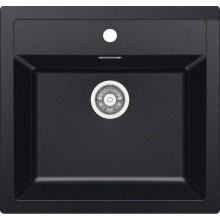 Franke Sirius SID 610, 560x530 mm, tectonitový dřez, černá 114.0264.011