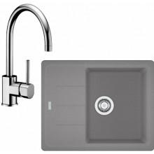 Franke SET G54 granitový dřez BFG 611-62 šedý kámen + baterie FC 650 chrom 114.0323.813