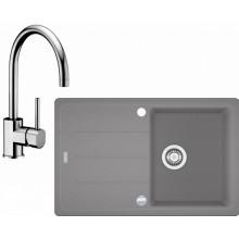 Franke SET G56 granitový dřez BFG 611-78 šedý kámen + baterie FC 650 chrom 114.0323.879
